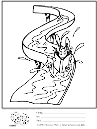amusement park online coloring pages page 1 pool water slide