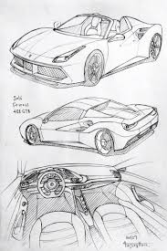 pagani drawing car drawing 160127 2016 ferrari 488 gbt prisma on paper kim j h