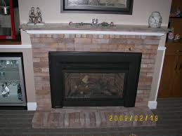 cozy brick fireplace mantel on interior with mantel ideas for