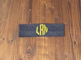 monogram headband circle monogram cotton knit headband custom 12 colors