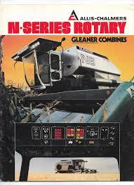 1970 u0027s allis chalmers gleaner n5 n6 rotary combine brochure