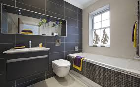Black Bathrooms Ideas by Entrancing 60 Grey Tile Bathroom Decor Decorating Inspiration Of
