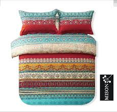 modern folk style boho bedding set designer colorful bohemian