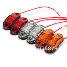 red led marker lights 2x led side marker light clearance l 12v 24v e marked dot car