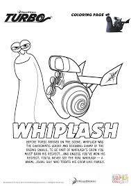 whiplash from turbo coloring page free printable coloring pages