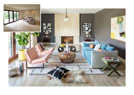 peek inside this fresh colorful living room makeover domino