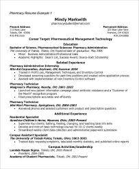 Pharmacy Intern Resume Sample Student Resume Example 7 Samples In Word Pdf