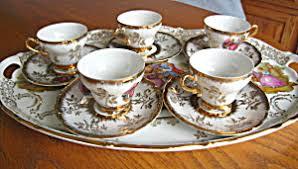 tea cup set wales vintage demitasse teacup set porcelain pottery at