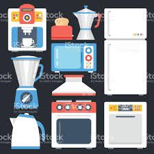 Creative Design Kitchens by Kitchen Appliances Household Home Appliances Set Modern Flat Icons