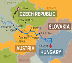 world river map image 2 the danube 11 days prague to budapest or