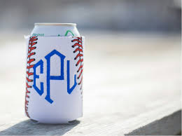 unsewn 12oz can koozie embroidery blanks baseball