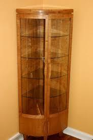 Oak Curio Cabinets Curio Cabinet Cornero Cabinets Costco Rustic With Glass