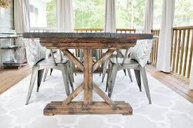 diy concrete dining table uncategorized making dining room table inside fascinating diy