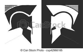 greek or roman antique helmet logo old vintage antiques vector