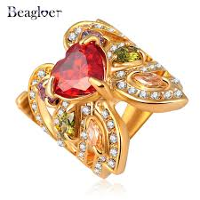 aliexpress buy beagloer new arrival ring gold beagloer butterfly flower ring unique design rings gold color with