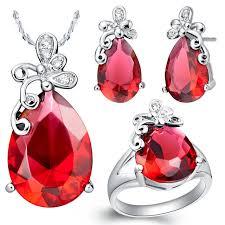 s60022 ruby jewels ornaments dubai wholesale jewelry artificial
