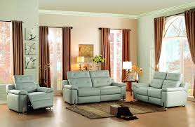 3 piece recliner sofa set homelegance vortex power double reclining sofa in light grey leather