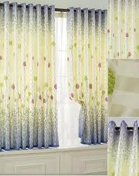 Country Style Window Curtains Style Insulated Polyester Fabric With Printed Floral Pattern Bay
