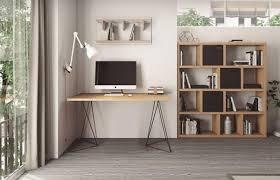 Office Desks Oak Temahome Flow Modern Home Office Desk Oak Top With Black Or