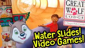 huge water slides video games great wolf lodge niagara falls