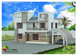 home designers 2705 sqft modern curve roof kerala home design by triple home