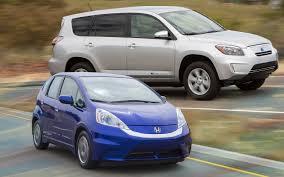 2013 toyota rav4 ev 2013 honda fit ev vs 2012 toyota rav4 ev comparison motor trend