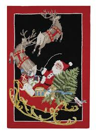 Santa Claus Rugs Mary Lake Thompson Santa Sled Rectangle Area Rug U0026 Reviews Wayfair