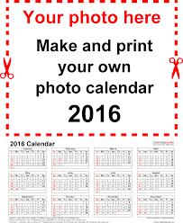 printable calendar generator template 4 photo calendar 2016 for word 12 pages portrait format