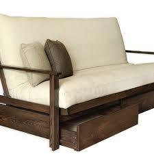 sherbrooke with drawers frame and futon kit futon d u0027or u0026 natural