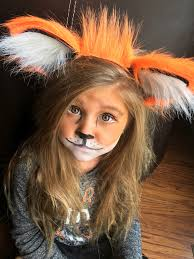 easy little fox makeup and headband halloween u003dparty time