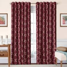 Red And Gold Damask Curtains Buy Burgundy Curtains From Bed Bath U0026 Beyond