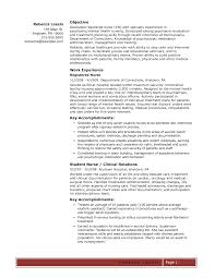 Best Resume Template For Nurses by Best Nursing Resume Template