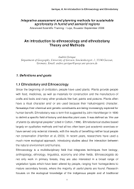 an introduction to ethnoecology and ethnobotany theory and