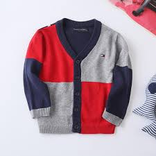 wholesale sweaters baby cardigan sweater boys color matching knitting sweaters