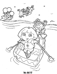 dora coloring pages coloring