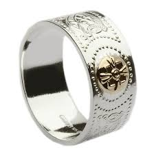 mens celtic rings sterling silver ardagh men s celtic ring with 14k gold 9mm