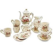 european tea set teapot set 15 pcs includes