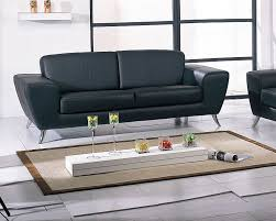 black or white contemporary leather sofa