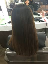 updos for long hair one length one length hair cut with square layer and forward grad 01 02