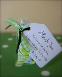 favor favor baby sanitizer favors for a baby shower the tag reads thank