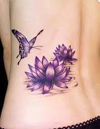 lotus flowers with butterfly tatuaje