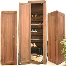 Large Shoe Storage Cabinet Furniture Strathmore Solid Walnut Furniture Shoe Cupboard Cabinet Tall