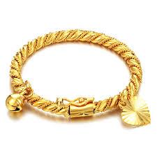 girl gold bracelet images Gold bracelet bangle cuff for children kid boy girl baby heart jpg