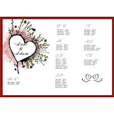 10 best images of wedding seating list template free free