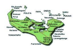 tonga map tonga