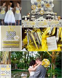 gray and yellow wedding color inspiration