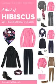 capsule wardrobe color palette a hint of hibiscus with six