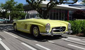 1957 mercedes 300sl roadster 1957 mercedes 300 sl roadster in yellow paint start up on
