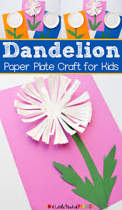 dandelion paper plate craft for kids