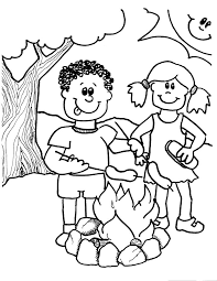 camping coloring pages printable kids coloringstar
